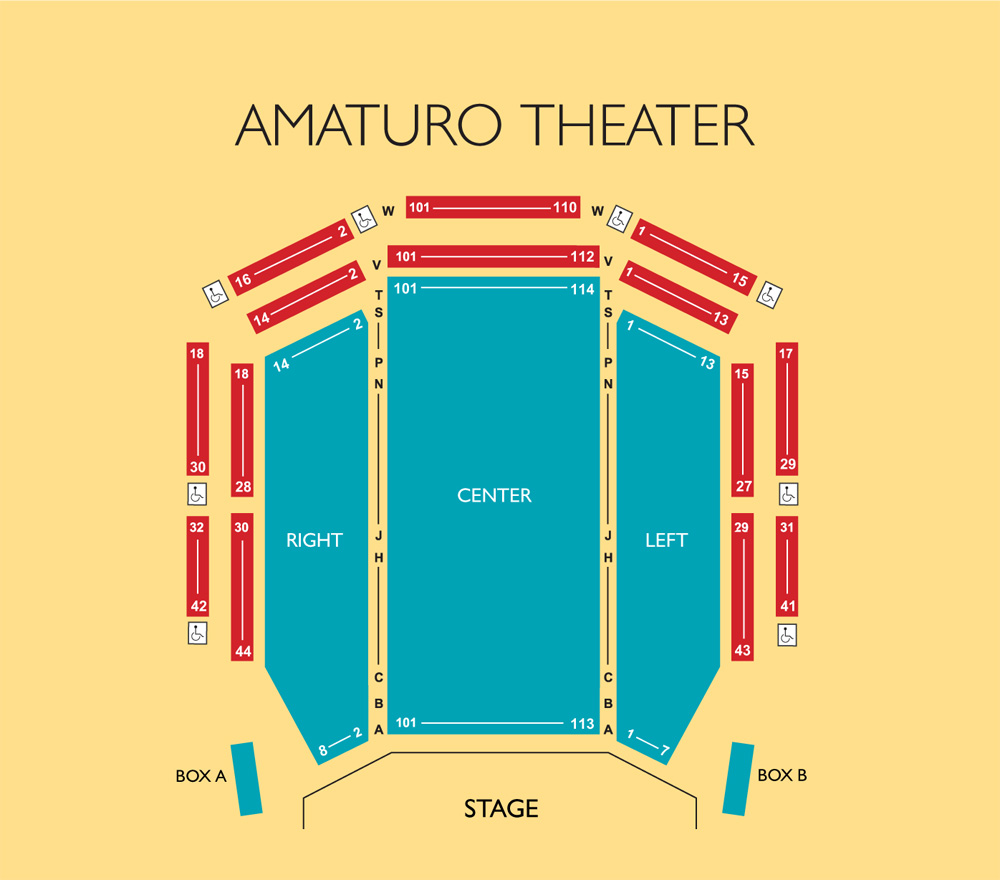 Broward Center - Amaturo Theater Seating Chart